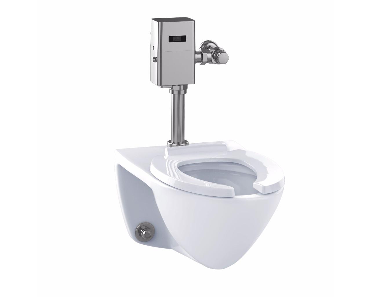 Commercial 1G Flushometer High Efficiency Toilet, Elongated Bowl ...